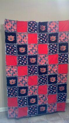 Auburn football rag quilt