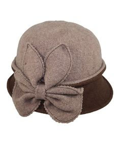 Look at this #zulilyfind! Taupe Bow Wool Cloche by Jeanne Simmons Accessories #zulilyfinds