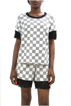 TOJU FOYEH MONOCHROME SHORTS SET #TOJUFOYEH #AfricanFashion #NigerianFashion #BuyNigerian   Available at http://lespacebylpm.com/