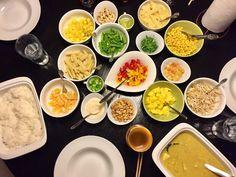 Danish Food, Palak Paneer, Tapas, Buffet, Food And Drink, Yummy Food, Pasta, Chicken, Breakfast