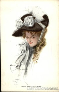 """""""Those Bewitching Eyes"""" Harrison Fisher postcard"""