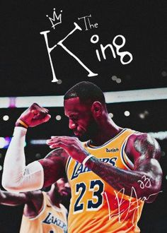 """Beautiful """"NBA Lebron James The King"""" metal poster created by Team Awesome. Our Displate metal prints will make your walls awesome. Lebron James Poster, King Lebron James, Lebron James Lakers, Lakers Kobe Bryant, King James, Lebron James Wallpapers, Nba Wallpapers, Lebron James Background, Lebron James Family Foundation"""