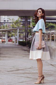 silver midi Isumi Melania - ASTO GROUP skirt - love love the skirt.