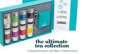 The Ultimate Tea Collection - Gift Box With Eight Different Teas, A Pack Of Filters And A Perfect Spoon | DavidsTea