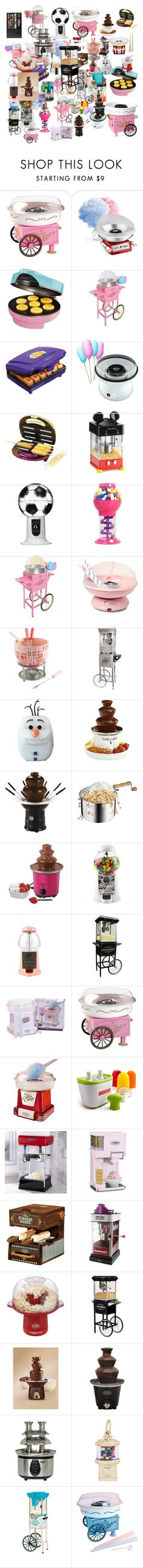 """""""Untitled #25"""" by yaarraau ❤ liked on Polyvore featuring interior, interiors, interior design, home, home decor, interior decorating, Cotton Candy, Nostalgia Electrics, Cuisinart and Vintage Collection"""