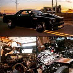 """KamiKaze Chris 1981 Chevrolet El Camino """"The ElCo"""" —————————————— Some facts Engine: big block chevy around 500 cubic inches. Kincaid Racing Engines of Lake Havasu, Arizona, built the engine with a Wiseco rotating assembly and valvetrain parts from..."""