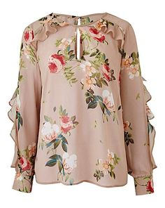 Ruffle Layered Floral