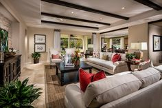 Elegant Olive Hill Plan 2 Great Room | #PardeeHomes #SanDiego #Bonsall #NewHomes #