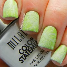 White stamping over neon