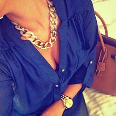 Chunky necklace & collars are a must this spring summer 2013! Read more why: http://jetsetbabe.com/i-love-chunky-necklaces-collars