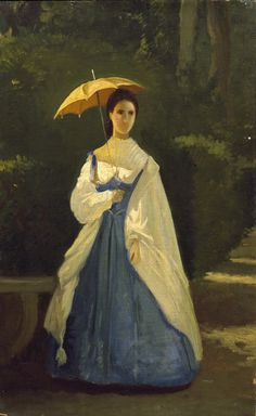 Vito d'Ancona - Signora in giardino 1861