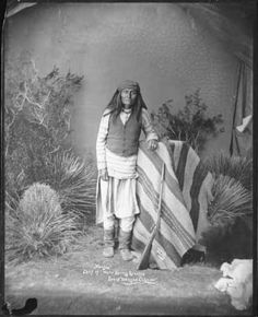 """Mangas, Chief of Warm Spring Apaches, Son of Mangas Colorow"" :: Palace of the Governors Photo Archives, Ben Wittick Collection"