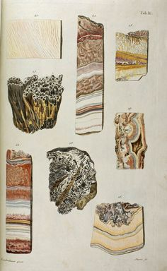 Textures to achieve in glass! Minerals And Gemstones, Rocks And Minerals, Crystals Minerals, Science Illustration, Graphic Design Illustration, Graphisches Design, Illustrations, Patterns In Nature, Textile Artists