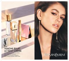 Kaia Gerber for ysl beauty campaign Ysl Beauty, Glowy Skin, Kaia Gerber, Campaign, Fashion, Moda, Fashion Styles, Fashion Illustrations