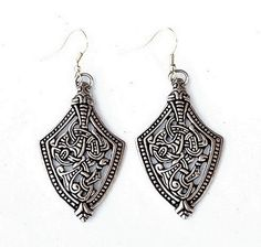 Viking shaped Ear Rings in Viking Age Borre Style - Available from on Etsy - 15.99 € Also in wholesale on www.peraperis.com
