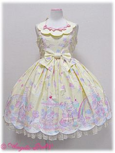 Angelic Pretty - Milky Planet JSK in Yellow