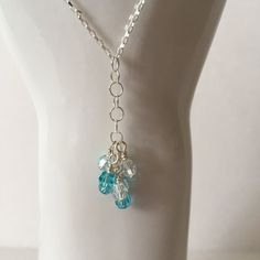Aqua Blossom Necklace from Creations by C&C Dominique Moceanu Signature Collection for $102.00