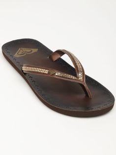 1e570c6ee0ed03 Roxy Indie leather flip flops  32.00