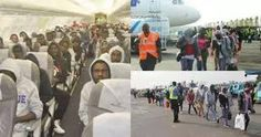 Some 50 Nigerians were on Thursday deported from eight European countries for committing immigra...