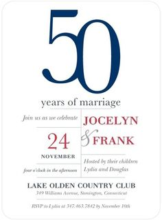 Anniversary Invitations Longtime Love - Front : White