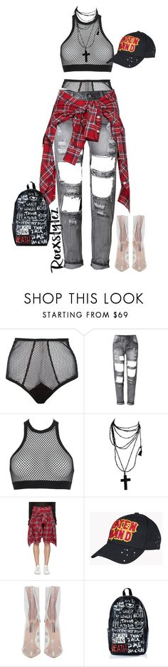 """""""Edgy Casual"""" by roexstylez89 ❤ liked on Polyvore featuring Fleur du Mal, Dsquared2, R13 and Haculla"""