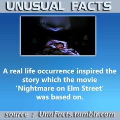 A real life occurrence inspired the story which the movie 'Nightmare on Elm Street' was based on.