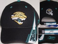 4ea999f43fd71f JACKSONVILLE JAGUARS Reebok NFL Team Apparel CAP/HAT NWT Fits All black gt  | eBay