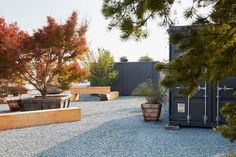 Marinship Studios by Terremoto « Landscape Architecture Platform Country Decor, Rustic Decor, Sawn Timber, Meditation Garden, Wood Tree, Contemporary Landscape, Landscaping Plants, Urban Planning, Decorating On A Budget