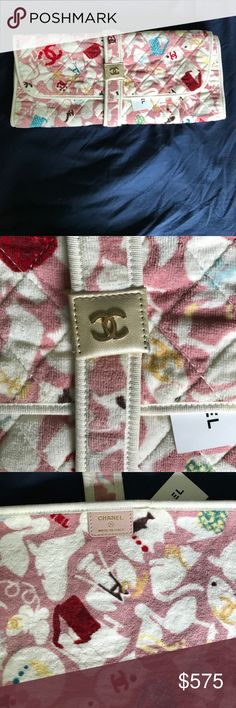 Chanel baby changing pad BNWT CHANEL baby changing pad with baby animals and signature double C's throughout CHANEL Accessories