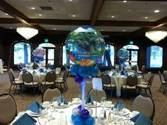 under the sea sweet 16 decorations | Centerpiece