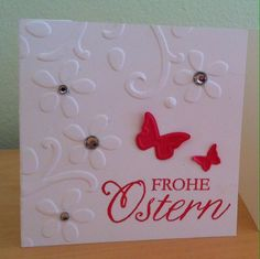 Einfache Osterkarte. Clean and simple easter card.