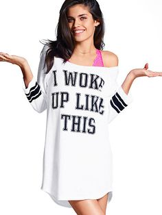 """I Woke Up Like This"" // Sara Sampaio for Victoria's Secret Pink (online summer 2014)"