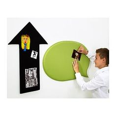 UPPVISA Noticeboard, set of 2 - IKEA $9.99 - The noticeboards have a soft surface where your child can hang their favorite pictures or drawings using pins (not included).