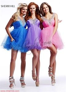 Babydoll cocktail dresses from Sherri Hill