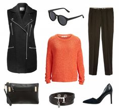 #Herbstoutfit Black and orange ♥ #outfit #Damenoutfit #outfitdestages #dresslove
