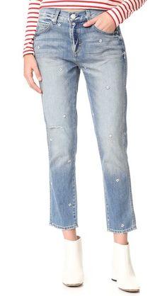 AMO Tomboy Crop Jeans. #amo #cloth #dress #top #shirt #sweater #skirt #beachwear #activewear