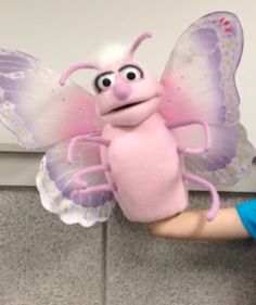 Butterfly puppet by PJ's Puppets