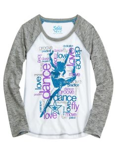Justice is your one-stop-shop for on-trend styles in tween girls clothing & accessories. Shop our Sports Raglan Sleeve Tee. Justice Dance, Justice Girls Clothes, Justice Clothing, Tanz Shirts, Night Suit For Girl, I Love Fashion, Kids Fashion, Love Dance, Long Sleeve Tops