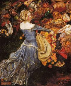 John Byam Liston Shaw, Goblin Market, one of 11 paintings based on Christina Rossetti's poetry