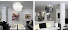 Silk and Estrela pendant lights designed by Hugo Tejada for Pujol Iluminacion