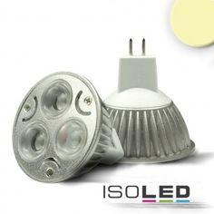 MR16 LED Strahler 3x1 Watt, Style 1, warmweiss, dimmbar / LED24-LED Shop
