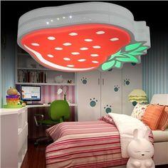 LED Deckenleuchte Modern Acryl Erdbeeren Malerei