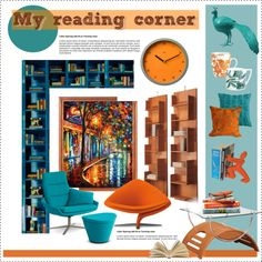 """My reading corner"" by nyrvelli on Polyvore"