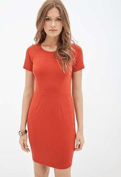 Forever 21   Darted Sheath Dress #forever21 #red #dress