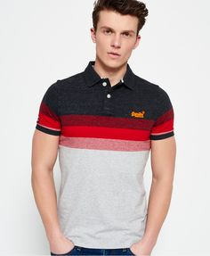 An essential piece for any wardrobe, our range of men's polo shirts includes long and short-sleeved options. Camisa Polo, Superdry Fashion, Mens Polo T Shirts, Le Polo, Big Men Fashion, Men Looks, Vintage Men, Printed Shirts, Men Dress