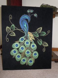How To Make Your Own String Art Wall Decor . Remember those string art wall hangings from the 70's/80's ? They are making a comeback, these are cute!