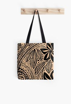 44249907d375  Light skin colored retro colored Hawaiian Polynesian tribal floral tattoo  design  Tote Bag by Ayelet Fleming