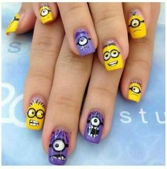 Deable Me 2 Minion Nails