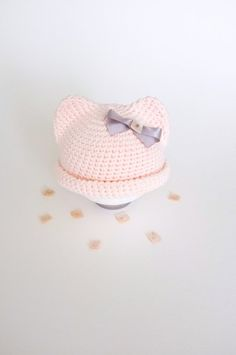 Baby Girl Ears Hat Newborn Girls Photo Props Baby by milazshop