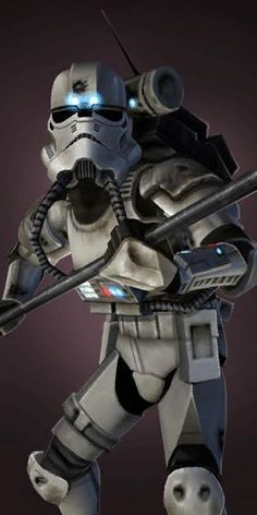 Imperial Riot Trooper: They are trained with Similar training to that of clone assassins they were first deployed to deal with the rouge sith known as Starkiller. They were soldiers of the Galactic Empire specialized in combating insurrectionist. They were equipped with electrostaffs.